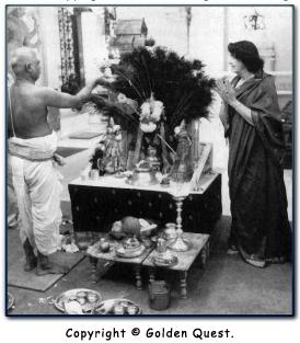 Hilda at Skanda Puja in the Hindu Temple, Queens, New York